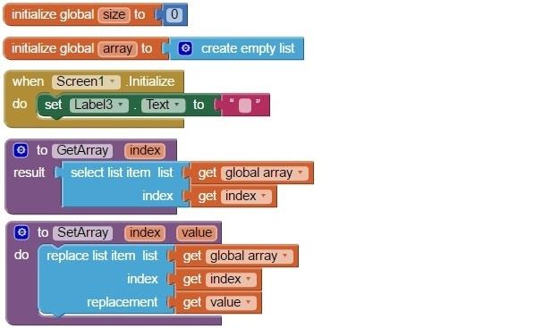App Inventor Array 2