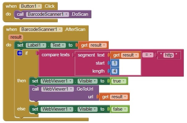 App Inventor Barcode Scanner 2