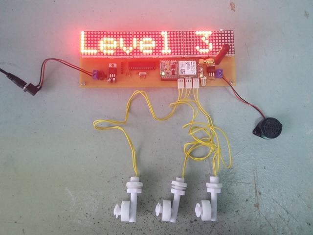 Arduino GSM Flood Alert Signboard (48x8)