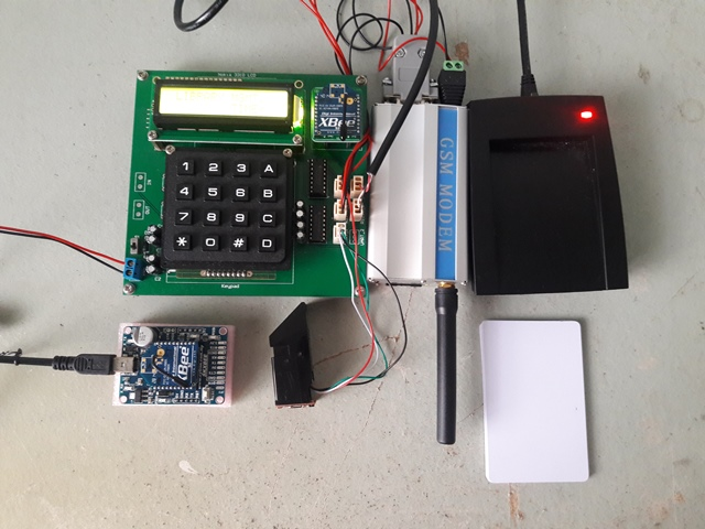 Fingerprint RFID Library Management GSM