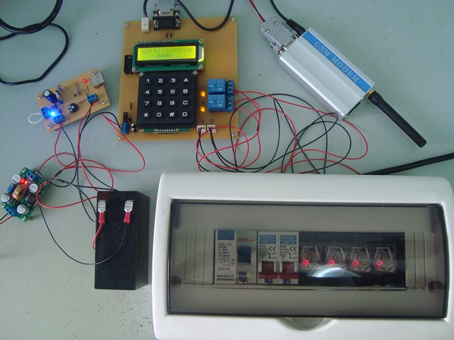 GSM Distribution Board Keypad