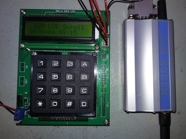GSM LCD Scroll