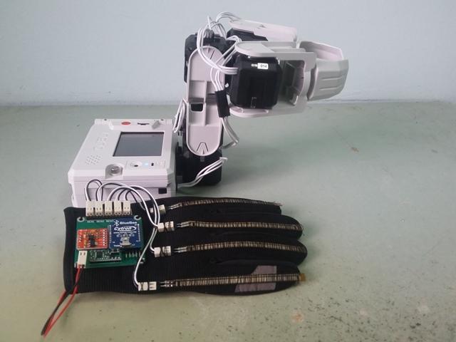 Hand Gesture Arm Robot (Rero)