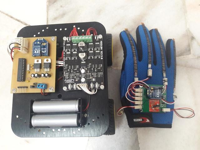 Hand Gesture Mobile Robot