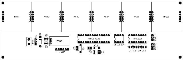 PCB Arduino Barcode Signboard 48x8