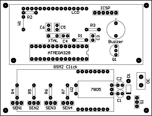 PCB Arduino GSM Mailbox