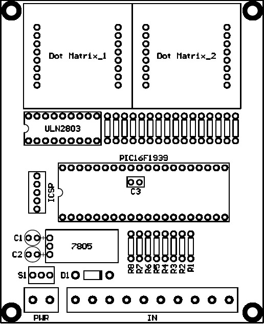 PCB Dot Matrix Lift Display