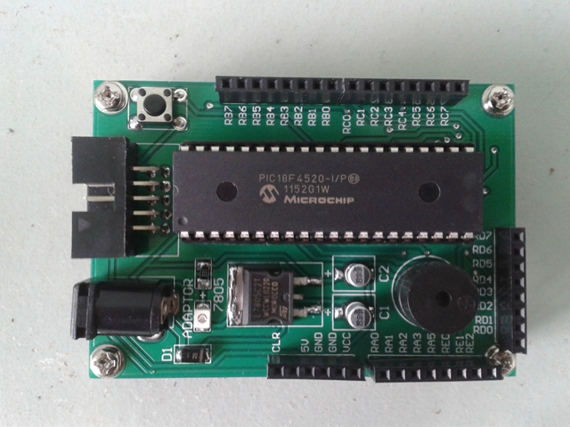 PIC Development Board V2 Top