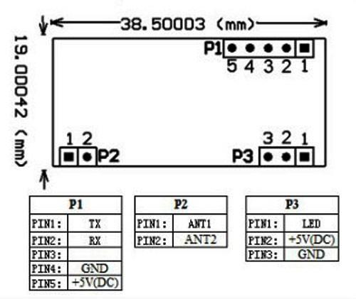 RDM6300 pin