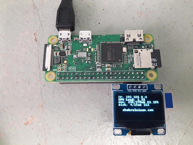 Raspberry Pi Lesson: OLED Display « Blog Kejuruteraan Dan