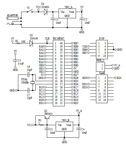 Schematic 32X16 Dot Matrix Signboard 2
