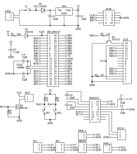 Schematic Ampaian Automatik GSM