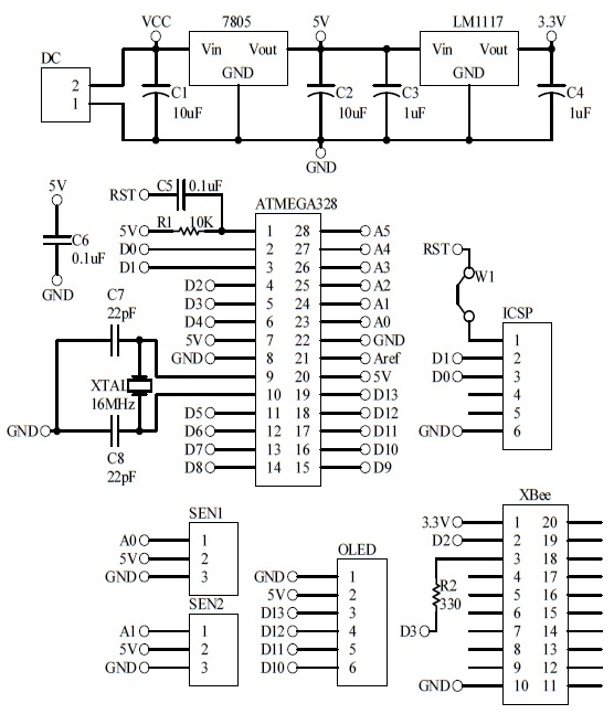 Schematic Arduino Automatic Fan Remote