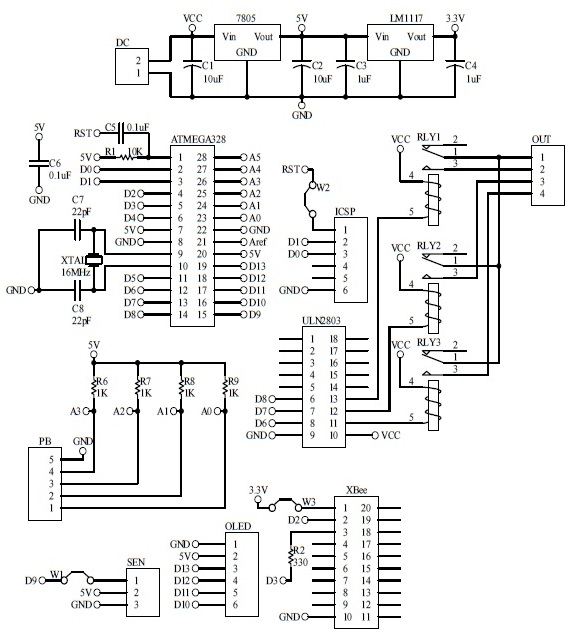 Schematic Arduino Automatic Fan