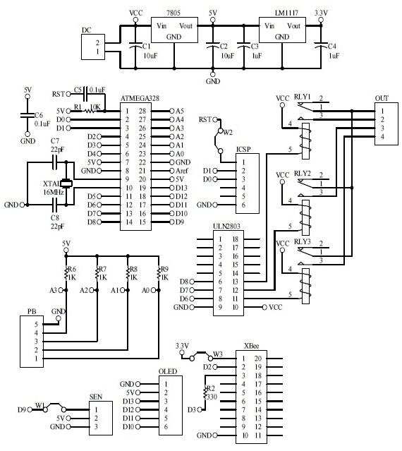 Schematic Arduino Automatic Fan