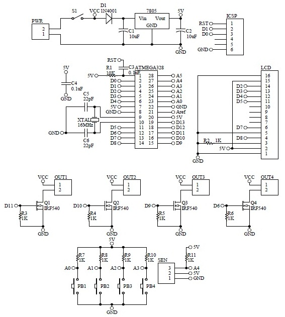 Schematic Arduino Temperature Control