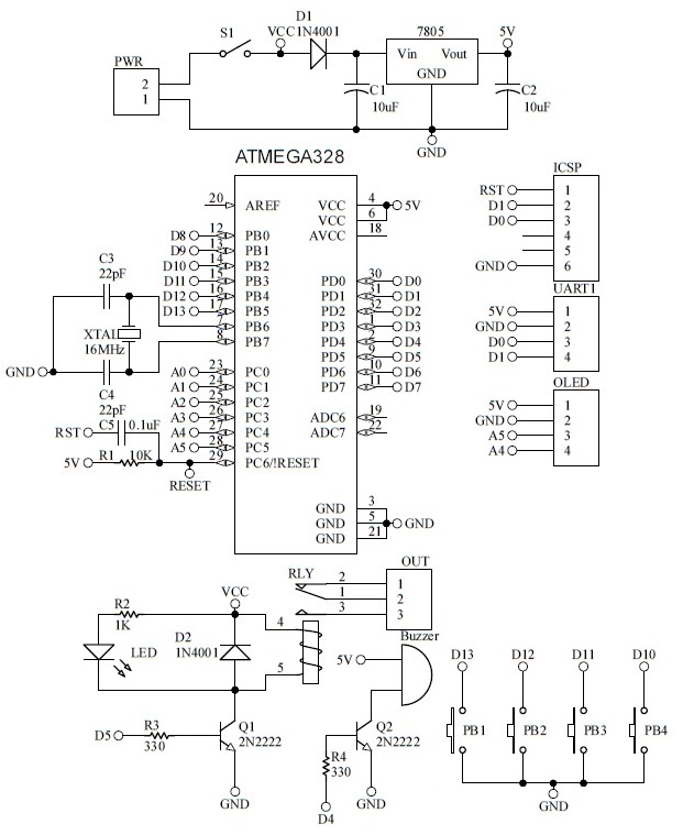 Schematic Fingerprint Car Starter