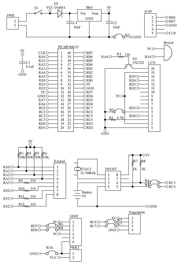 Shahrulnizam pic project fingerprint door lock pcb komponen layout nya adalah seperti berikut ccuart Image collections