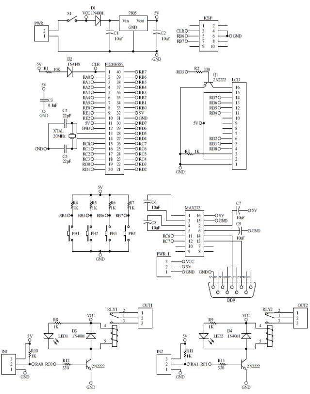 Schematic GSM Distribution Board 2