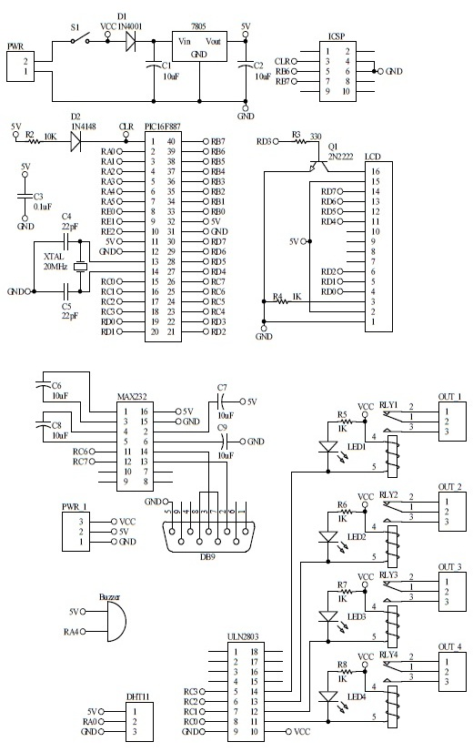 Schematic GSM Temperature Monitoring 2