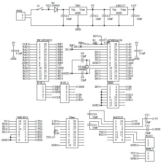 Schematic GSM XBee DMD