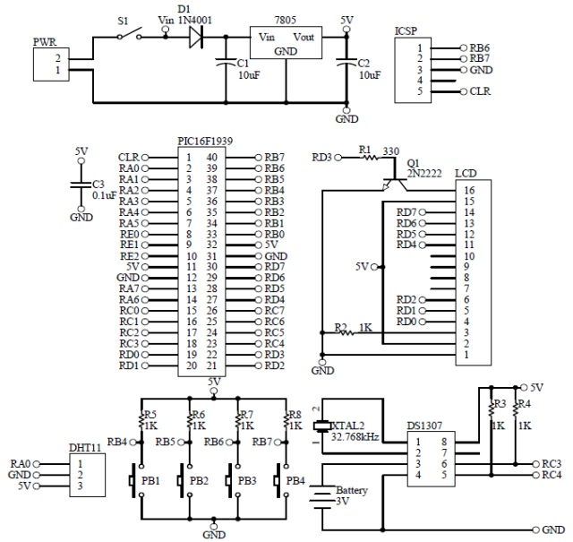 Schematic Humidity Temperature Monitoring 2