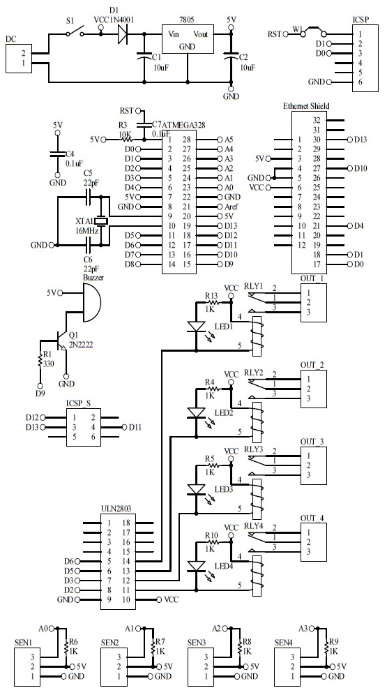 Schematic IOT Switch Temperature