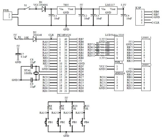Schematic Line Following Robot LSS05
