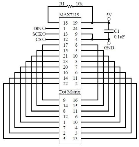 Schematic MAX7219 2