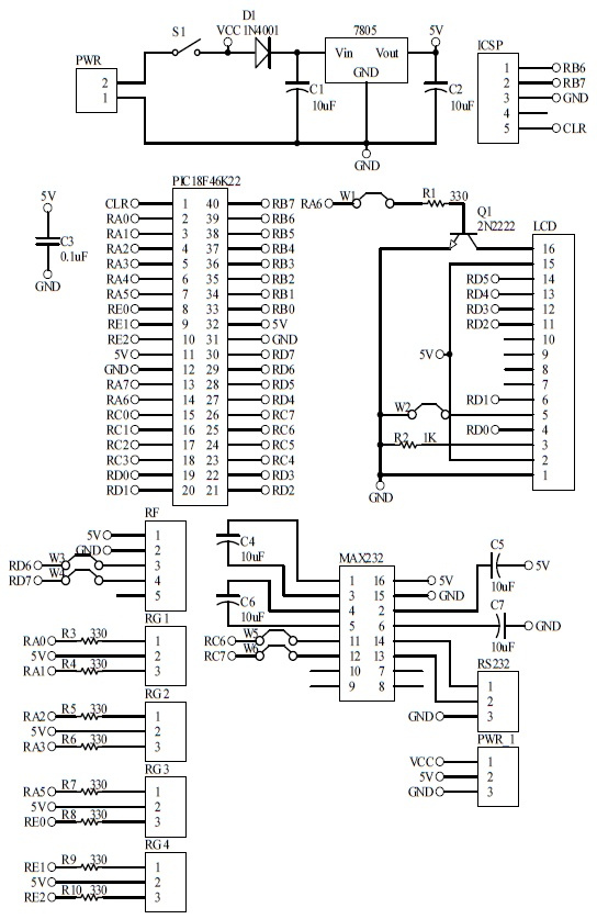Schematic Power Failure Notification Master