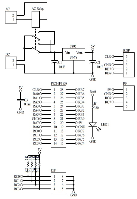 Schematic Power Failure Notification Slave