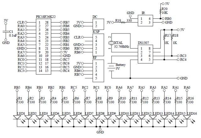 Schematic Propeller Clock LED