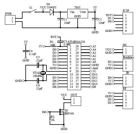 Schematic Propeller Clock Motor