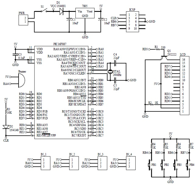 Schematic Simple Digital Clock