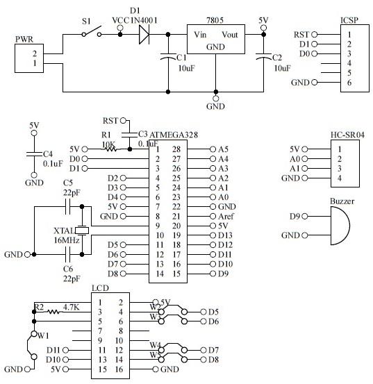 Shahrulnizam project ultrasonic sensor indicator pcb komponen layout nya adalah seperti berikut ccuart Choice Image
