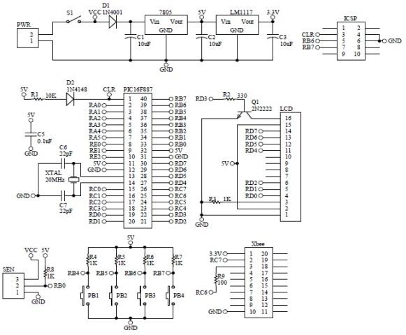 Schematic XBee Tachometer
