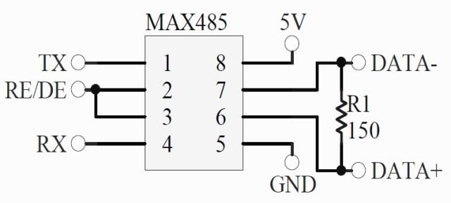 schematic MAX485 2